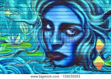 Mural woman