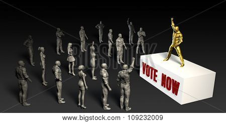 Vote Now Fight For and Championing a Cause