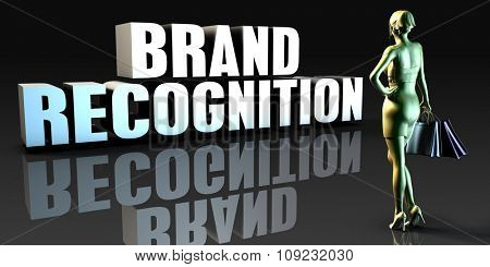 Brand Recognition as a Concept with Lady Holding Shopping Bags