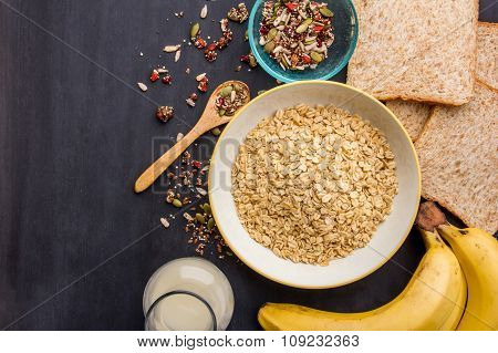 Homemade Healthy Oatmeal Ingredients