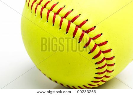 yellow ball for softball match