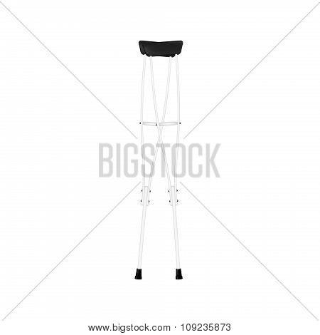 Retro crutches in white design