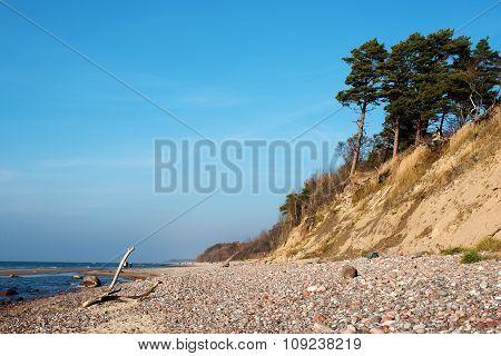 Autumn in the Baltic Sea coast of Lithuania