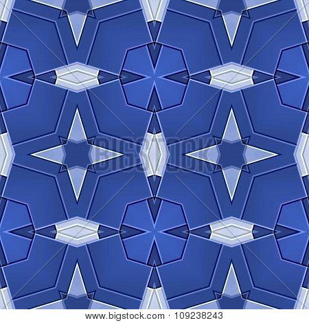 Seamless Ornate Mosaic Pattern In Blue