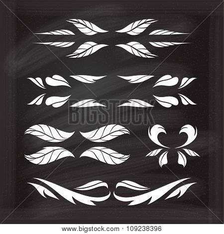 Vector calligraphic design elements.