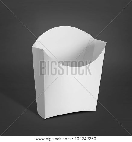 White Package Box For French Fries Food Products