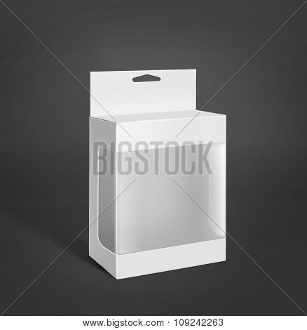 White Product Package Box With Window