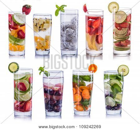 Set Collection And Compilation Of Infused Water