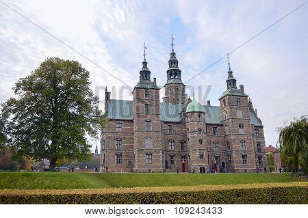Rosenborg Castle In Copenhagen, Denmark.