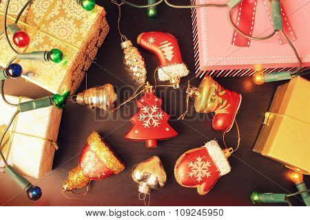 Christmas gift boxes and decoration