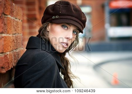 fashion model outdoors