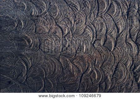 Deep textured bod-wood plank