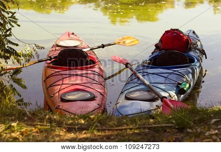 Kayak in open water.