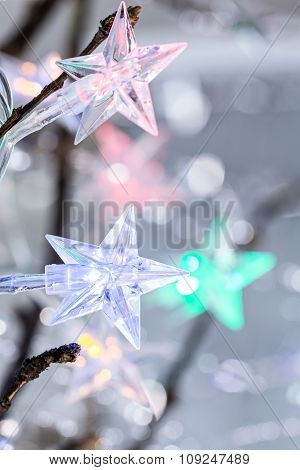 Christmas Star Lights Closeup