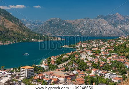 Kotor Bay and Old Town view, Montenegro.