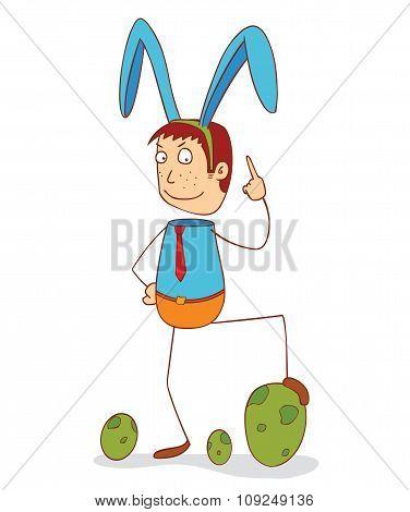 Man With Bunny Ribbon