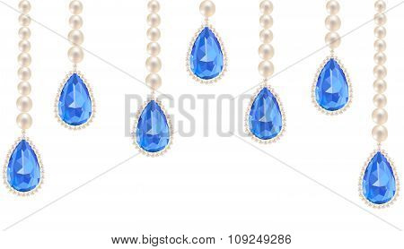 jewelry with sapphire pendants