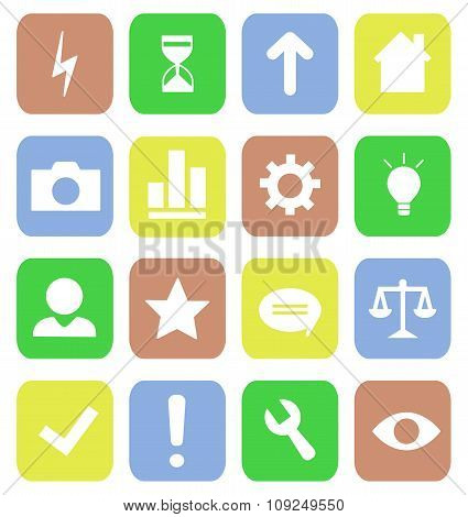 Universal Vector Set Of Icons, Symbols For, Business, Work, Shopping, Finance, Media, Marketing