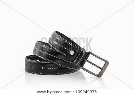 Black Leather Belt For Men.