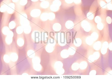 Background With White Blurred Bokeh