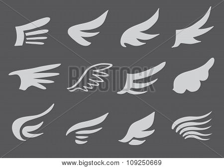 Wing Symbol Vector Design Set