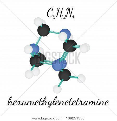 C6H12N4 hexamethylenetetramine molecule