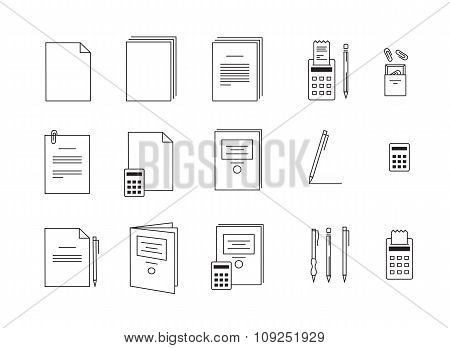 Vector Icons For Computer Paper Office