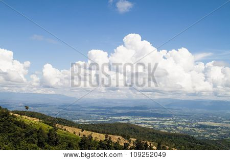 Mountain And Beautiful Clouds In Thailand