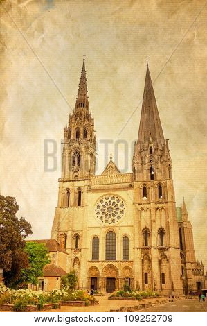 antique church building in paris,Europe
