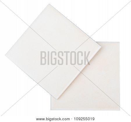 Tiles on white