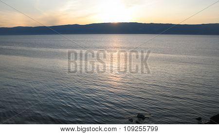 Sunset On The Lake Baikal