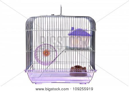 Pets cage on a white background