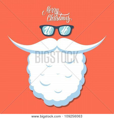 Christmas poster for party or greeting card. New year 2016.