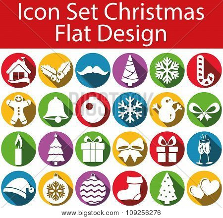 Flat Design Icon Set Christmas