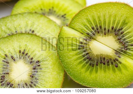 Kiwi Fruit And Kiwi Sliced Segments