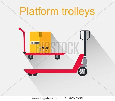 Platform Trolleys Icon Design Style