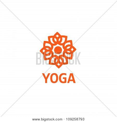 template logo for yoga studios.