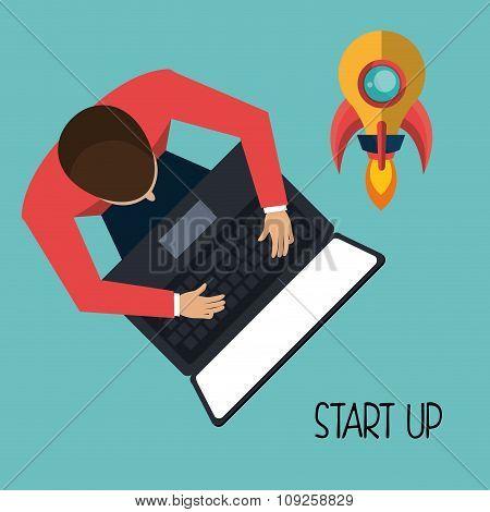Start up company graphic