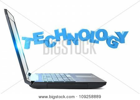 Laptop with word technology