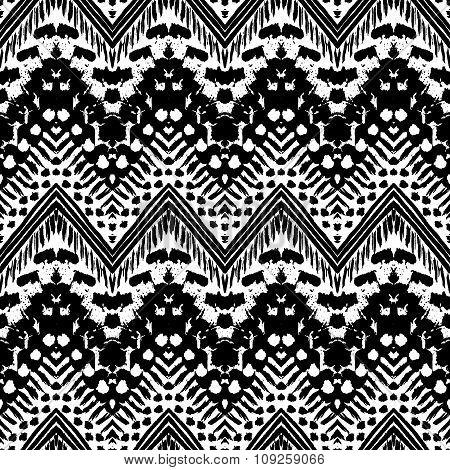 Hand drawn painted seamless pattern. illustration
