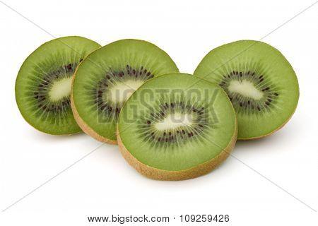 sliced Kiwi fruit isolated on white background cutout
