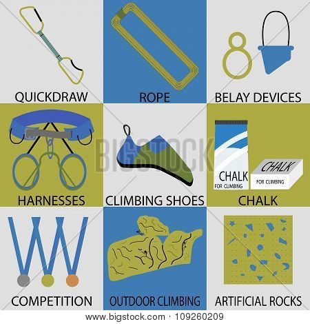Set icon sport climbing