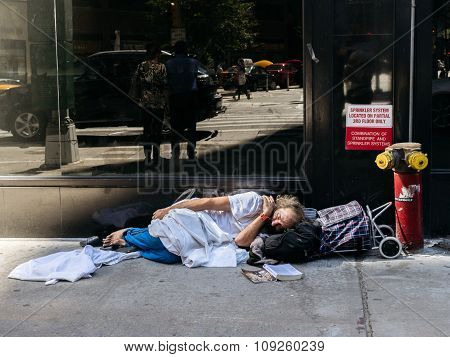 Homeless Man In New York