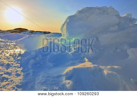 Greenland`s Sunset