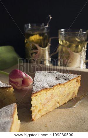 Apple pie made of corn flour