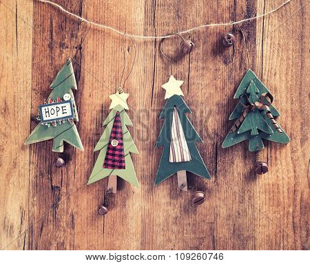 christmas wooden decorations christmas tree