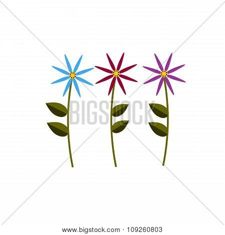 Spring Flower Color Flat Icon