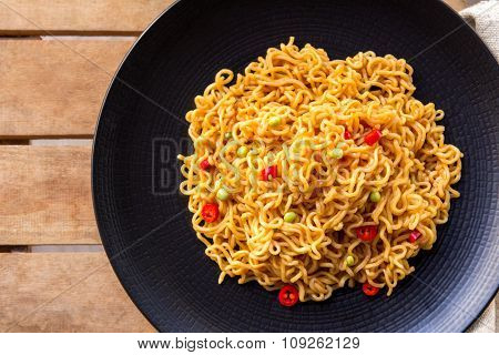 A Plate Of Spicy Indonesian Fried Noodle