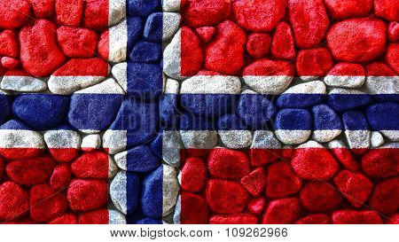Flag of Norway, Norwegian flag painted on stones