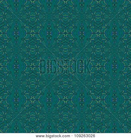 Seamless pattern dark green
